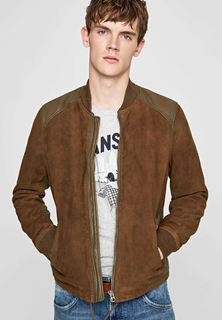 Pepe Jeans - CROSBY - Leather jacket - brown