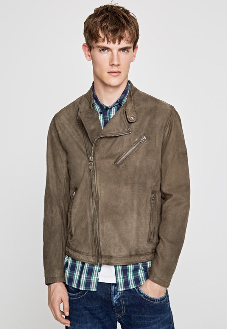 Pepe Jeans - GOODMAN - Leather jacket - brown