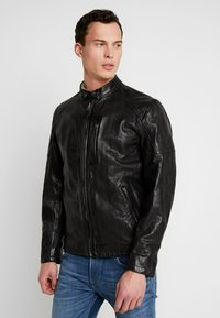 Pepe Jeans - DONOVAN - Leather jacket - black - 0