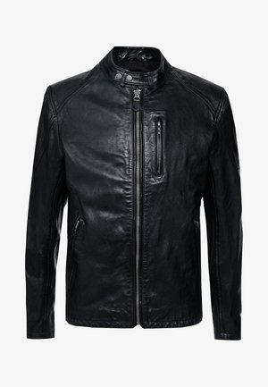 DONOVAN - Kožená bunda - black