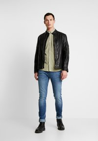 Pepe Jeans - DONOVAN - Leather jacket - black - 1