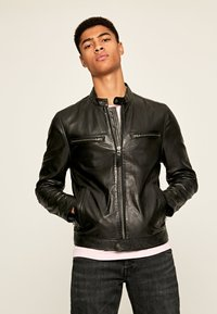 Pepe Jeans - JARED - Leather jacket - black - 0