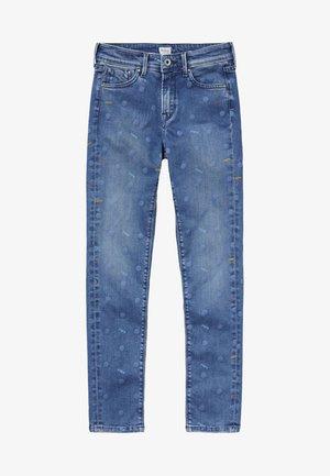 PIXLETTE HIGH DOTS - Straight leg jeans - denim