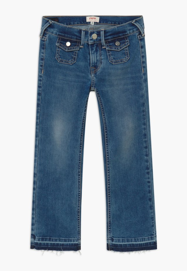 KICKI MINI - Vaqueros bootcut - denim