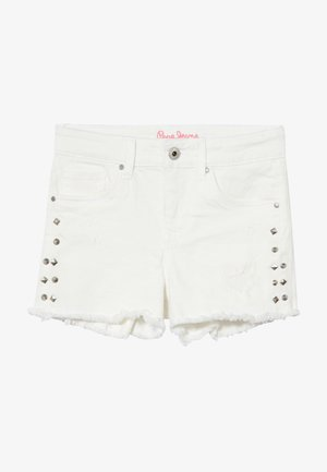 ELSY BLING - Shorts di jeans - white