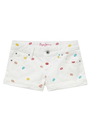 FOXTAIL KISS - Denim shorts - blanco
