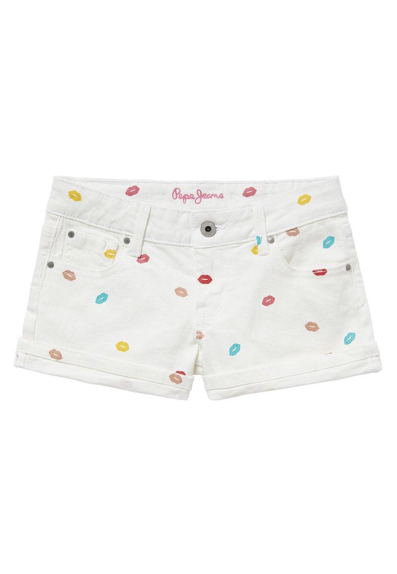 Pepe Jeans - FOXTAIL KISS - Denim shorts - blanco