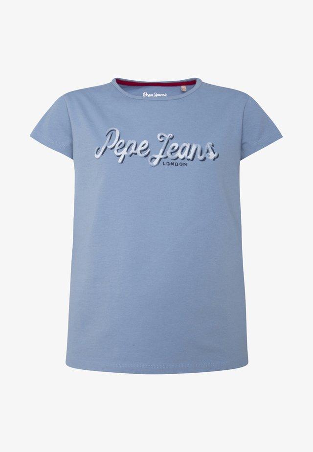CLEMENCE - Camiseta estampada - blue