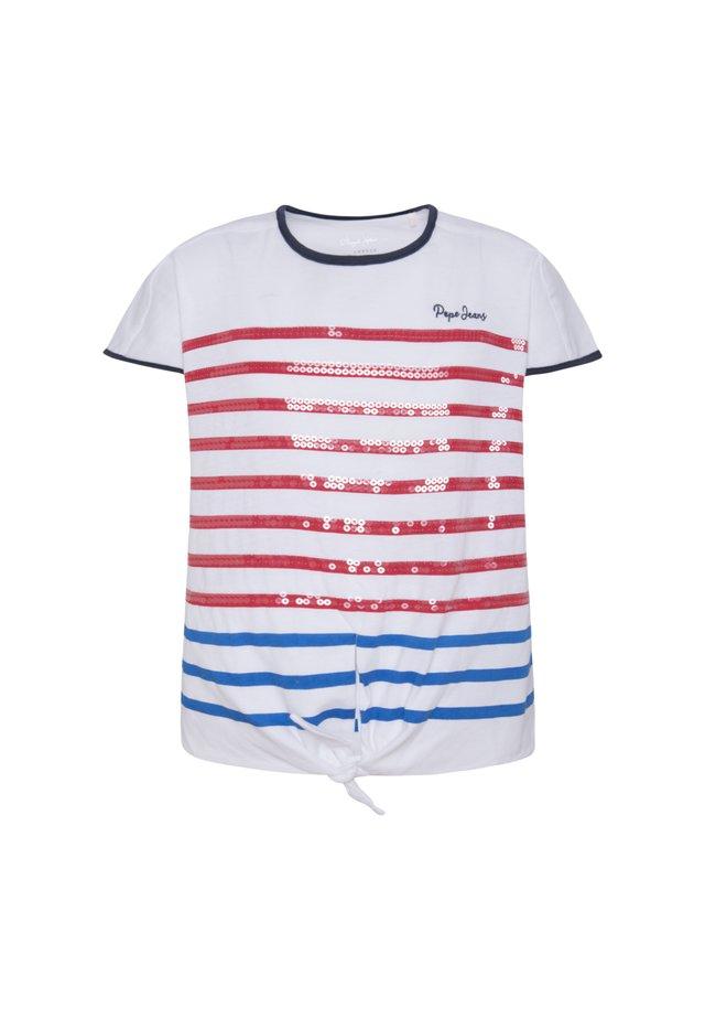 MONET - Camiseta estampada - optic weiss