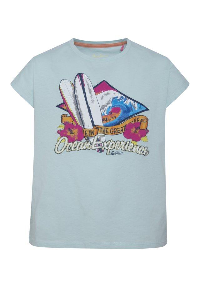 KATYA - Camiseta estampada - light spa