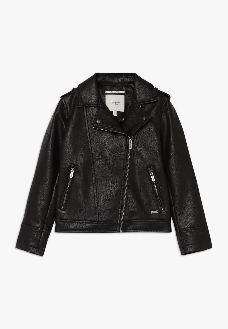 Pepe Jeans - ANDROMEDA - Faux leather jacket - black