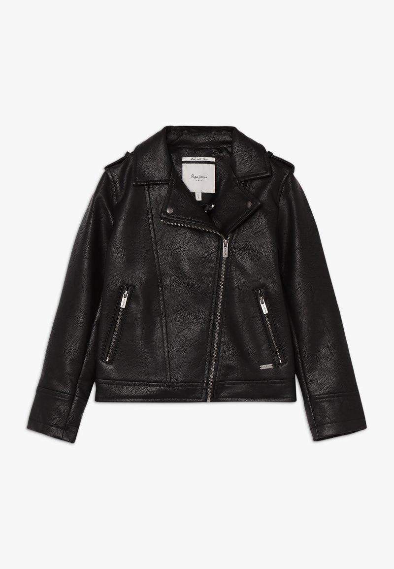 Pepe Jeans - ANDROMEDA - Veste en similicuir - black