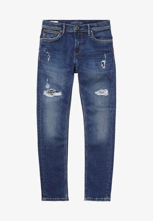 NICKELS - Straight leg jeans - blue denim
