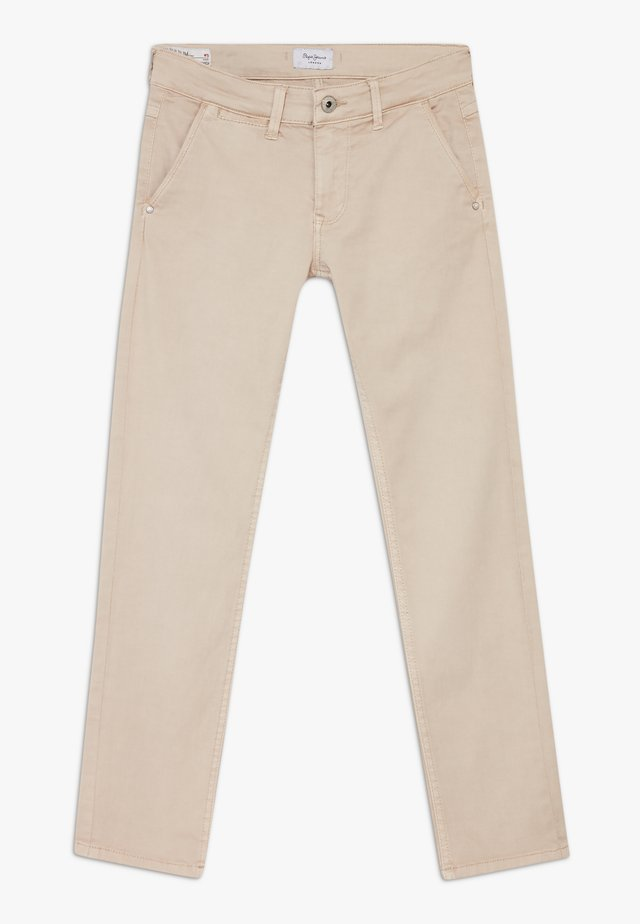 GREENWICH - Pantalones chinos - light biscuit
