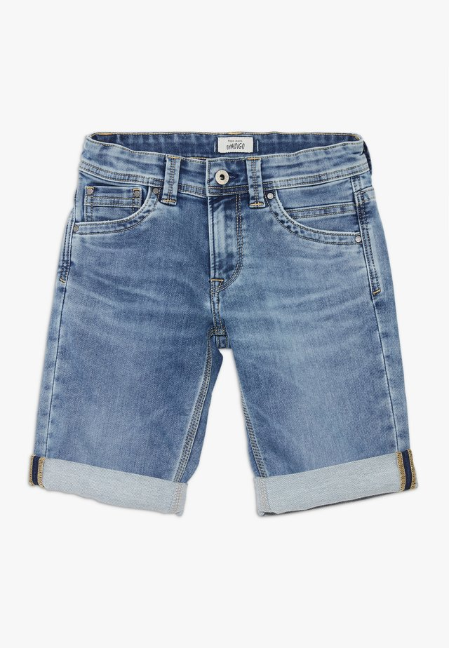 TRACKER - Shorts di jeans - light blue