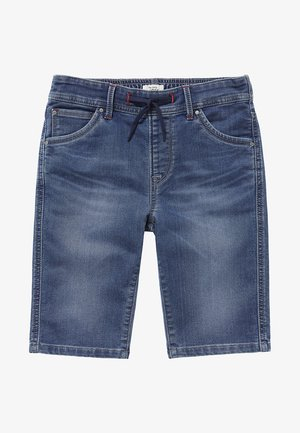 GENE ZIP - Shorts vaqueros - blue denim