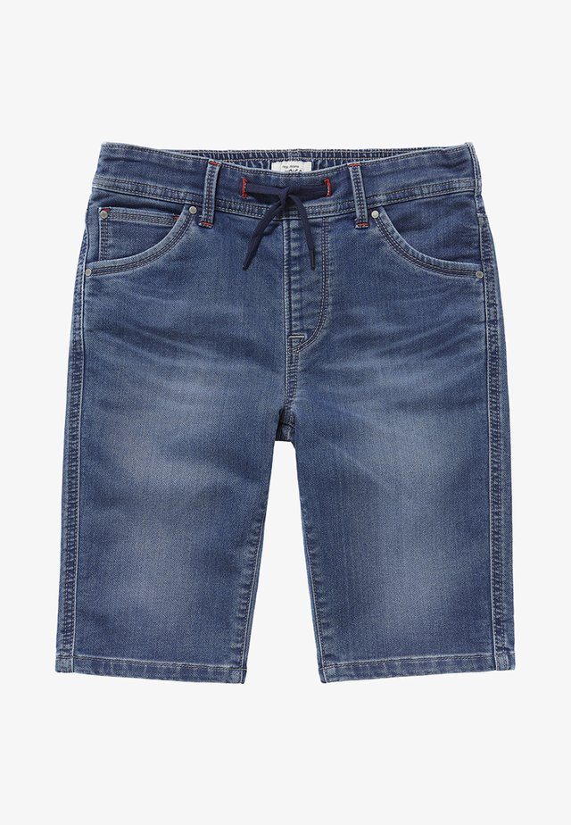 GENE ZIP - Denim shorts - blue denim