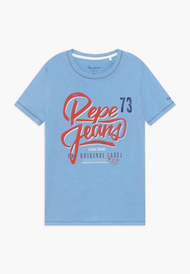 ABADIE - Camiseta estampada - horizon blue