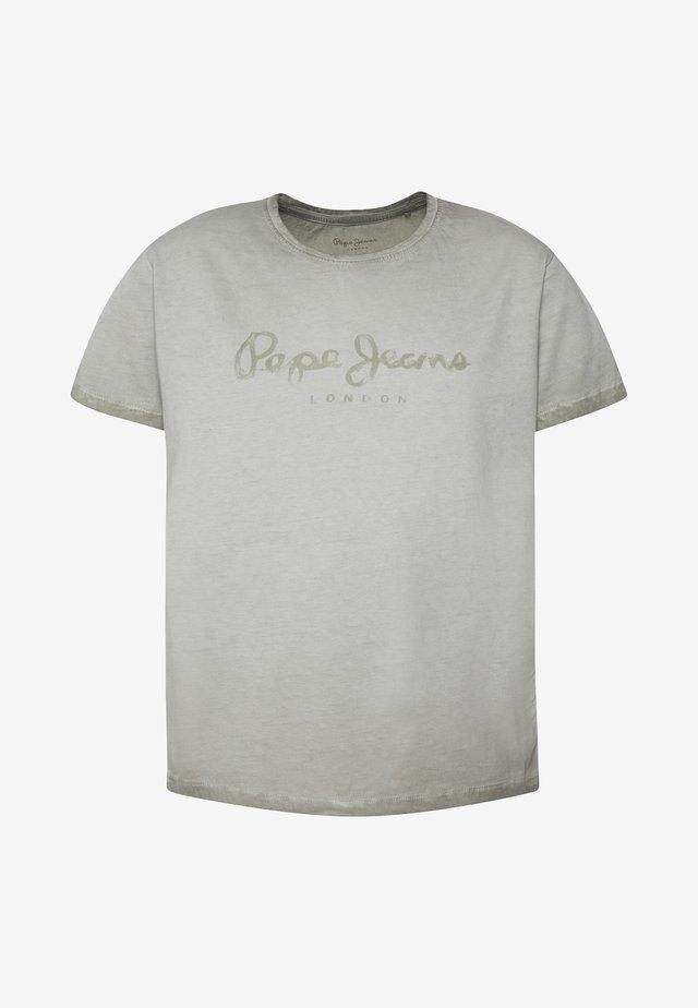 BASTIAN - Camiseta estampada - seagrass