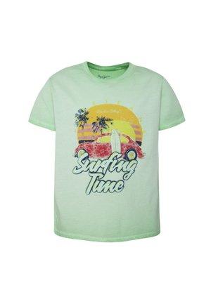 ARIS - Print T-shirt - menthol grün