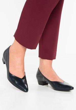 LIMBA - Classic heels - navy chevro