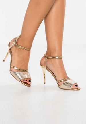 TERRI - High heeled sandals - platin hurdle/chio