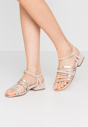 POLLY - Sandals - sand/platin