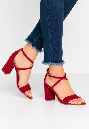 ALECIA - High heeled sandals - lipstick
