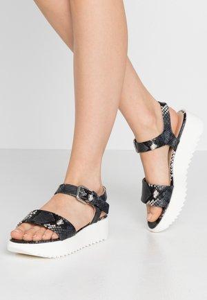 CAYLA - Korkeakorkoiset sandaalit - carbon