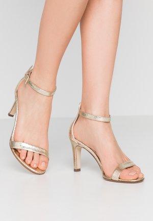 ORLENA - High heeled sandals - platin corona