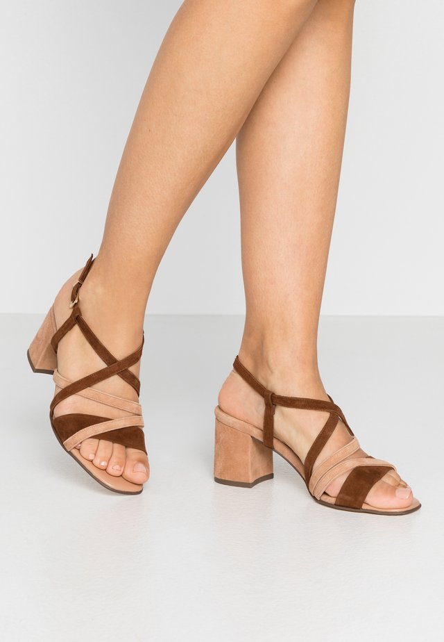PAVA - Sandals - sable/biscotti