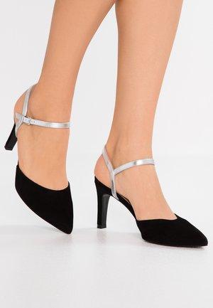 EYRINA - High heels - black/silver corfu