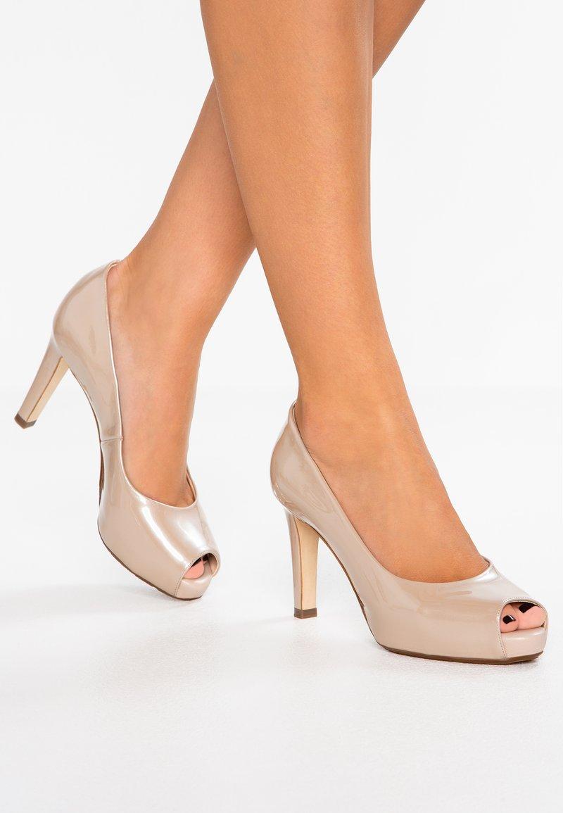 Peter Kaiser - GIULIA - Peeptoe heels - sand mura