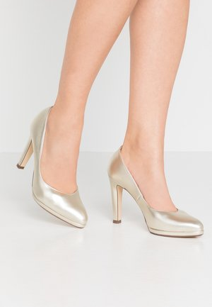 HERDI - Zapatos altos - platin
