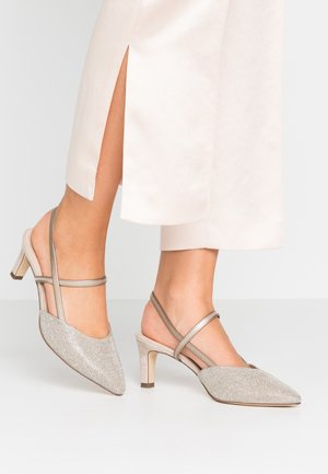 MITTY - Classic heels - sand shimmer