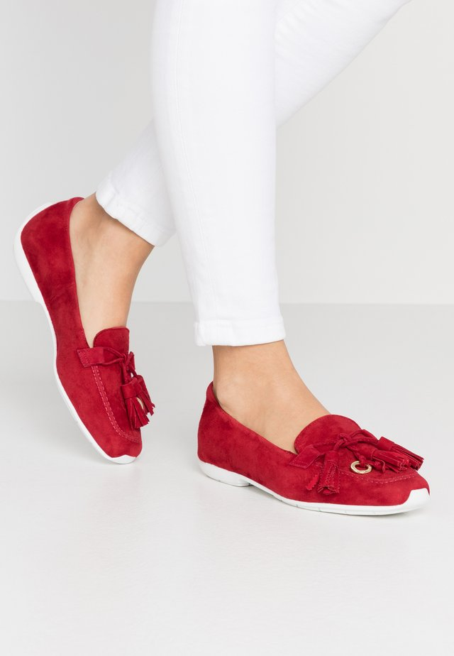 ALUNA - Loafers - lipstick