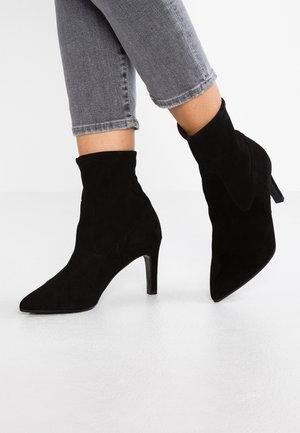 UNA - Classic ankle boots - schwarz