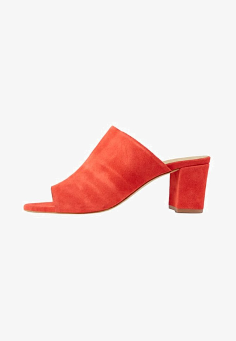 Pieces - Heeled mules - aura orange