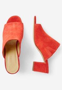 Pieces - Heeled mules - aura orange - 1
