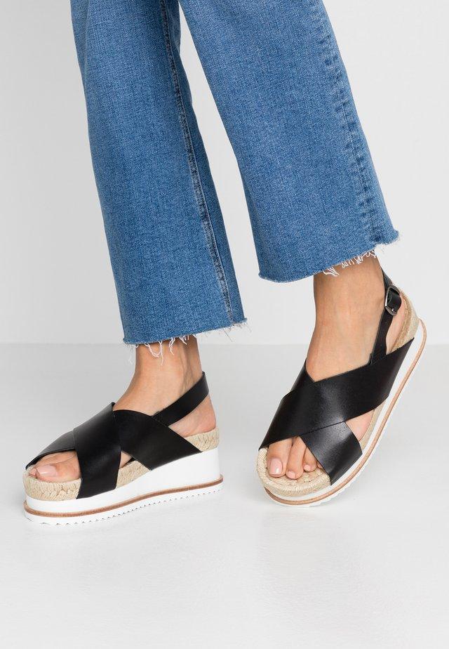PSCHRISSY - Sandalen met plateauzool - black