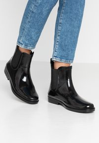 Pieces - PSHELLA RAIN BOOT - Regenlaarzen - black - 0