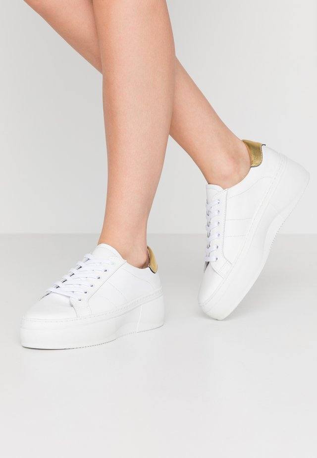 PSANDREA - Sneakers laag - white/gold