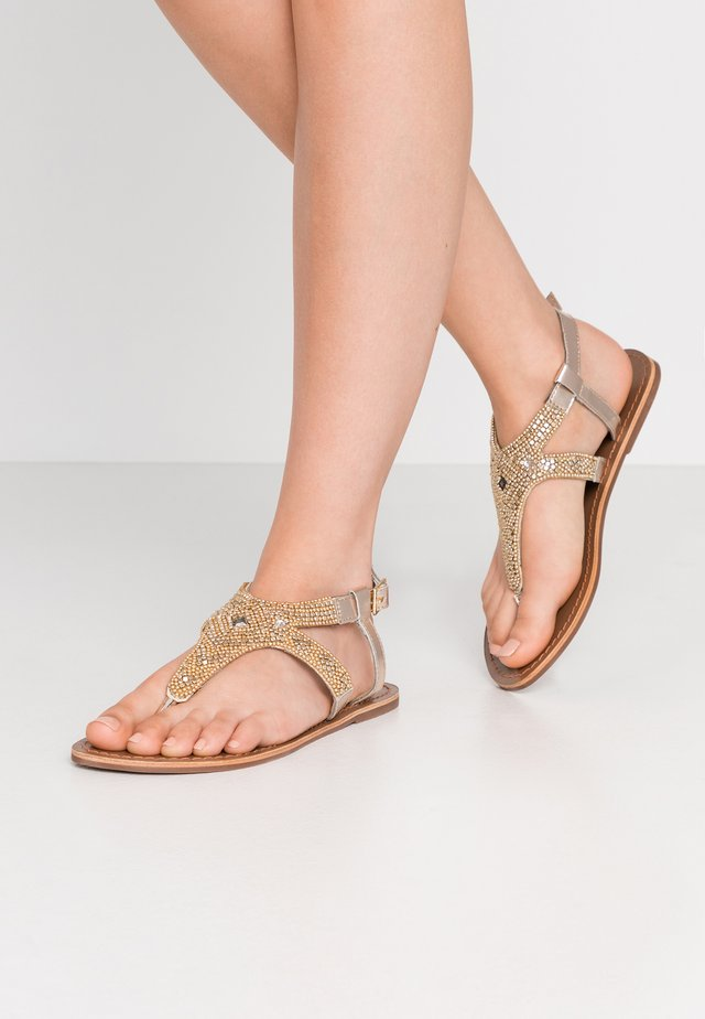 PSCAMMA  - T-bar sandals - gold