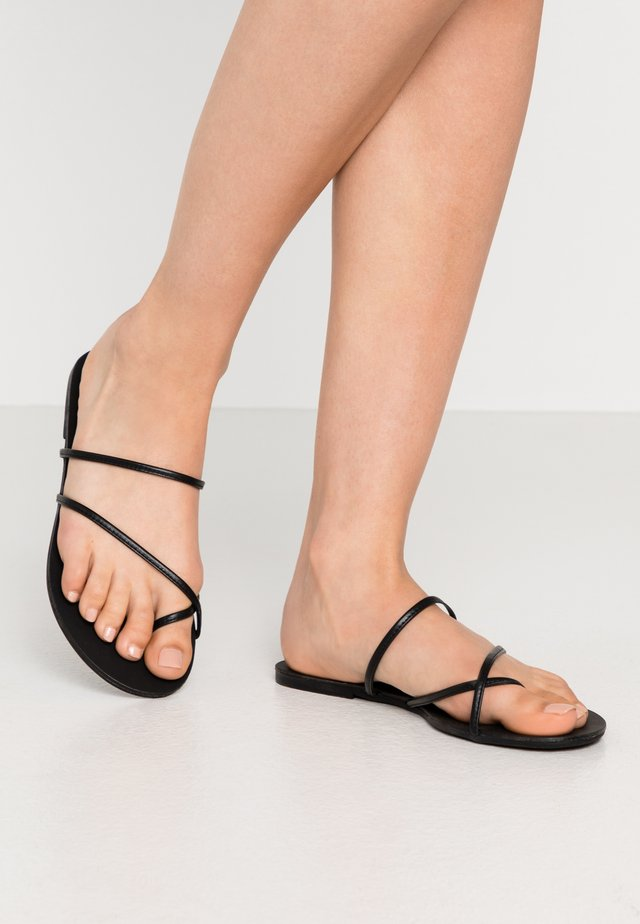 PSANNIE  - T-bar sandals - black