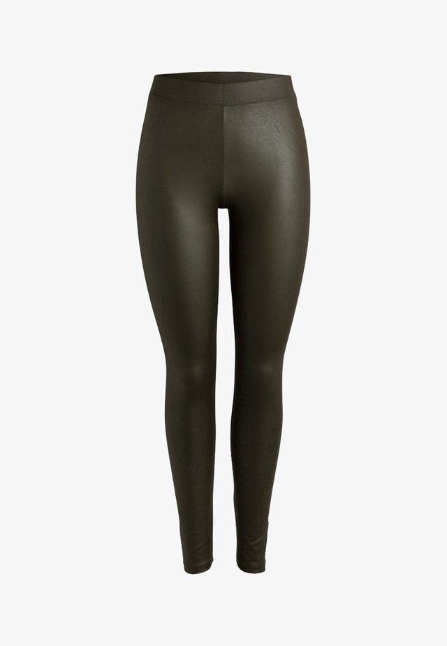 GLÄNZENDE - Leggings - Trousers - dark olive