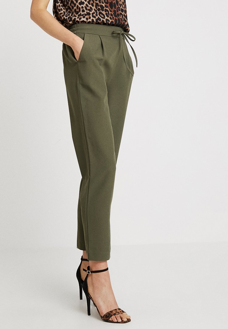 Pieces - Trousers - olive night