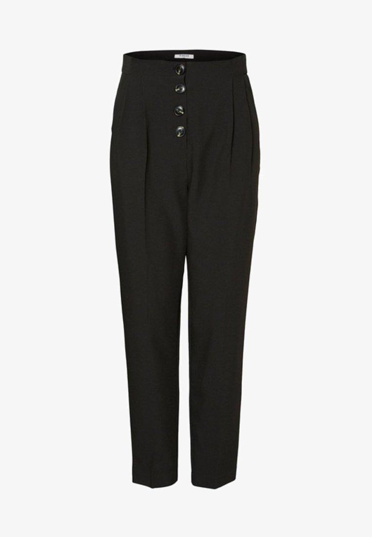 Pieces - Pantalones - black