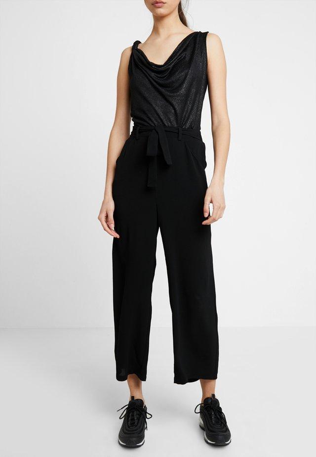 PCNELLIE - Spodnie materiałowe - black