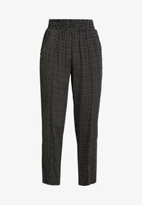 Pieces - PCHILARY CROPPED PANT - Kalhoty - black - 4