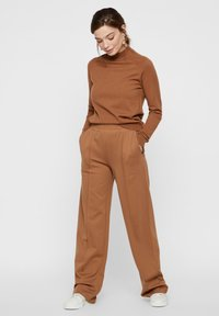Pieces - Trousers - brown - 1